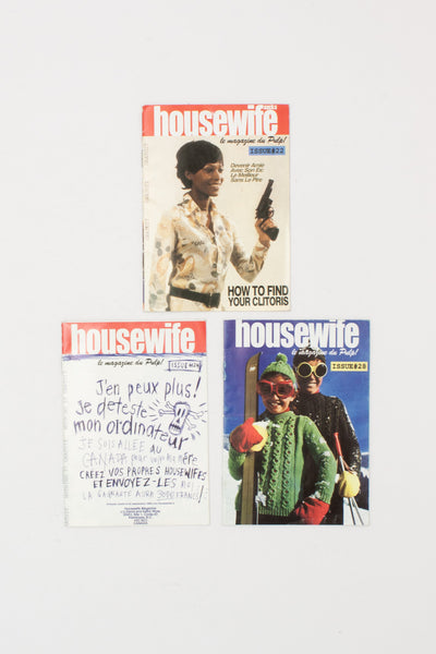 Three Issues of Housewife Fanzine.