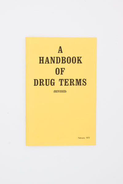 A Handbook Of Drug Terms - Adam Turnbull, Elizabeth Karp-Evans