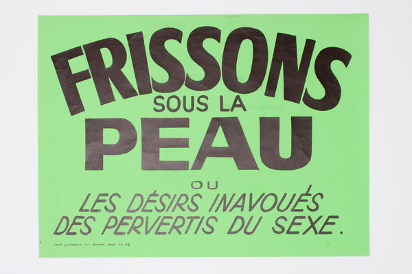 [Typographically-eccentric poster from the last adult cinema in Paris]