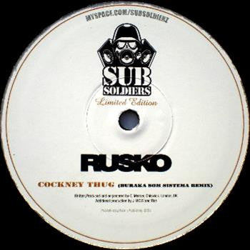 Rusko ‎– Cockney Thug (Buraka Som Sistema Remix) - Unearthed Sounds, Vinyl, Record Store, Vinyl Records