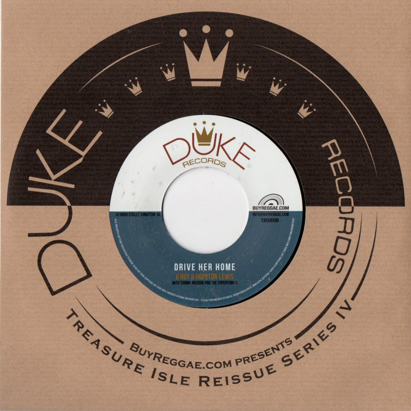 U Roy, Hopeton Lewis, The Versatiles - Drive Her Home - Unearthed Sounds