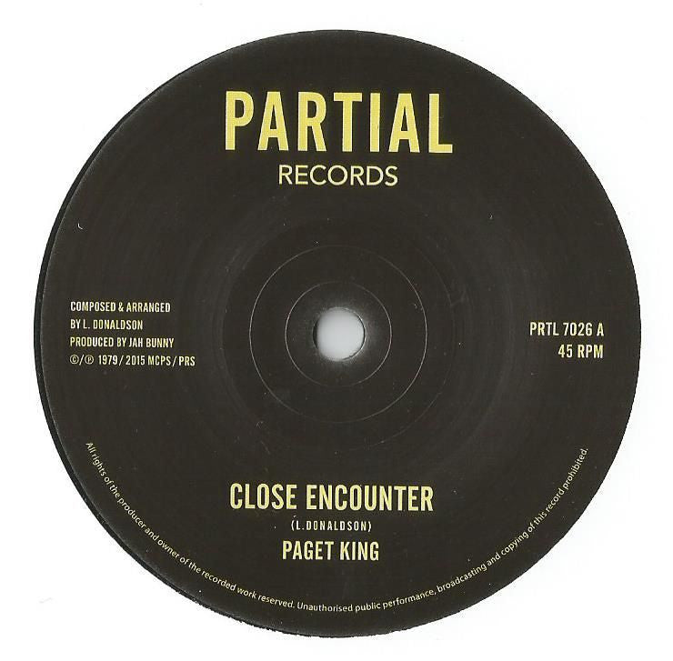 Paget King / Jah Bunny - Close Encounter / Close Encounter (Dub) - Unearthed Sounds