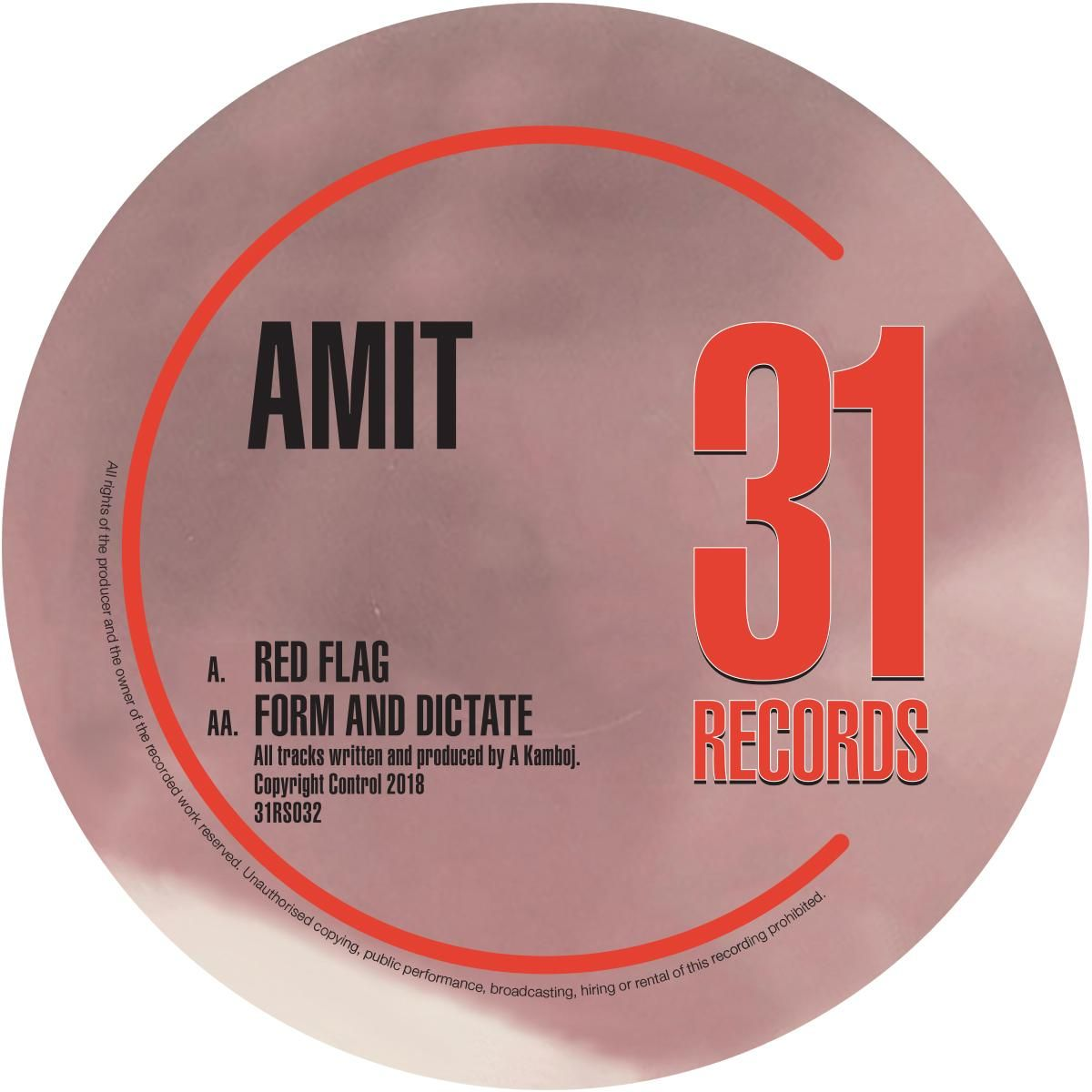 Amit - Red Flag [Transaparent Vinyl]