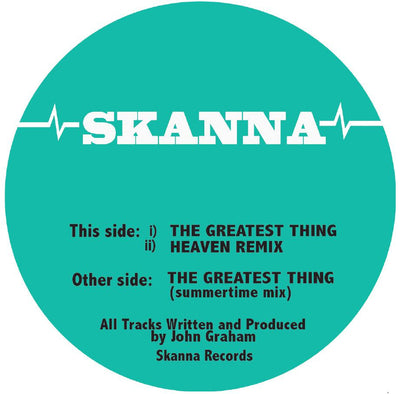 Skanna - The Greatest Thing / Heaven Remix / The Greatest Thing (Summertime Mix) - Unearthed Sounds