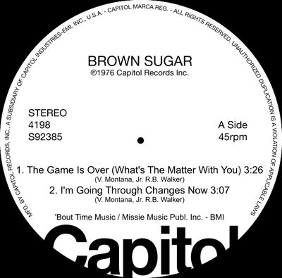 Brown Sugar / Brief Encounter - Capitol Disco Sampler [LTD Re-Issue] - Unearthed Sounds