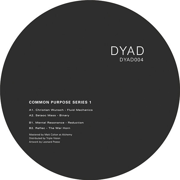 Various Artists - Common Purpose, Series 1 , Vinyl - DYAD, Unearthed Sounds