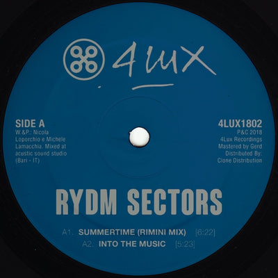 Rydm Sectors - Summertime - Unearthed Sounds, Vinyl, Record Store, Vinyl Records