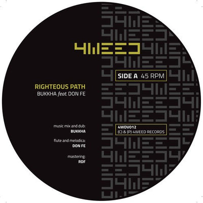 "Bukkha feat Don Fe - Righteous Path [7"" Vinyl] - Unearthed Sounds"