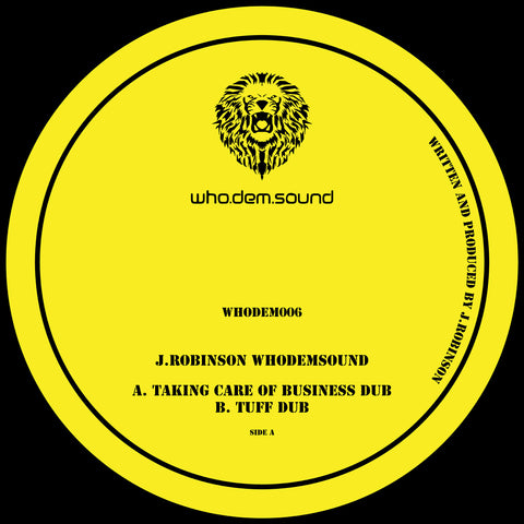 J.Robinson  - WhoDemSound [Incl. Sticker]