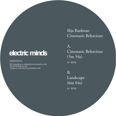 Ilija Rudman ‎– Cinematic Behaviour - Unearthed Sounds