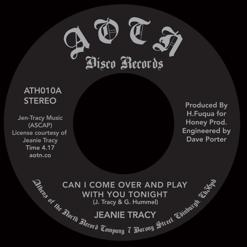 Jeanie Tracy - Can I Come Over And Play With You Tonight - Unearthed Sounds