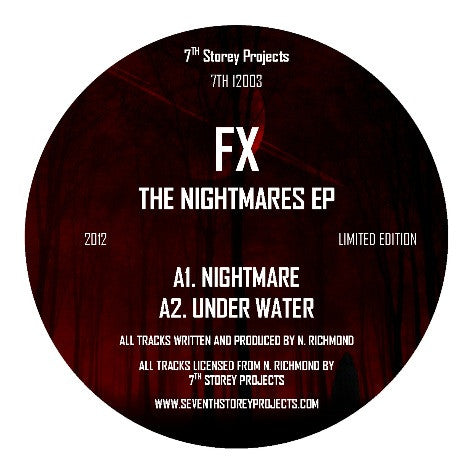 FX - The Nightmares EP (Black Vinyl) , Vinyl - 7th Storey Projects, Unearthed Sounds - 1