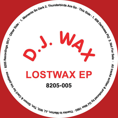 "DJ Wax - Lostwax EP [Red 12"" Vinyl]"