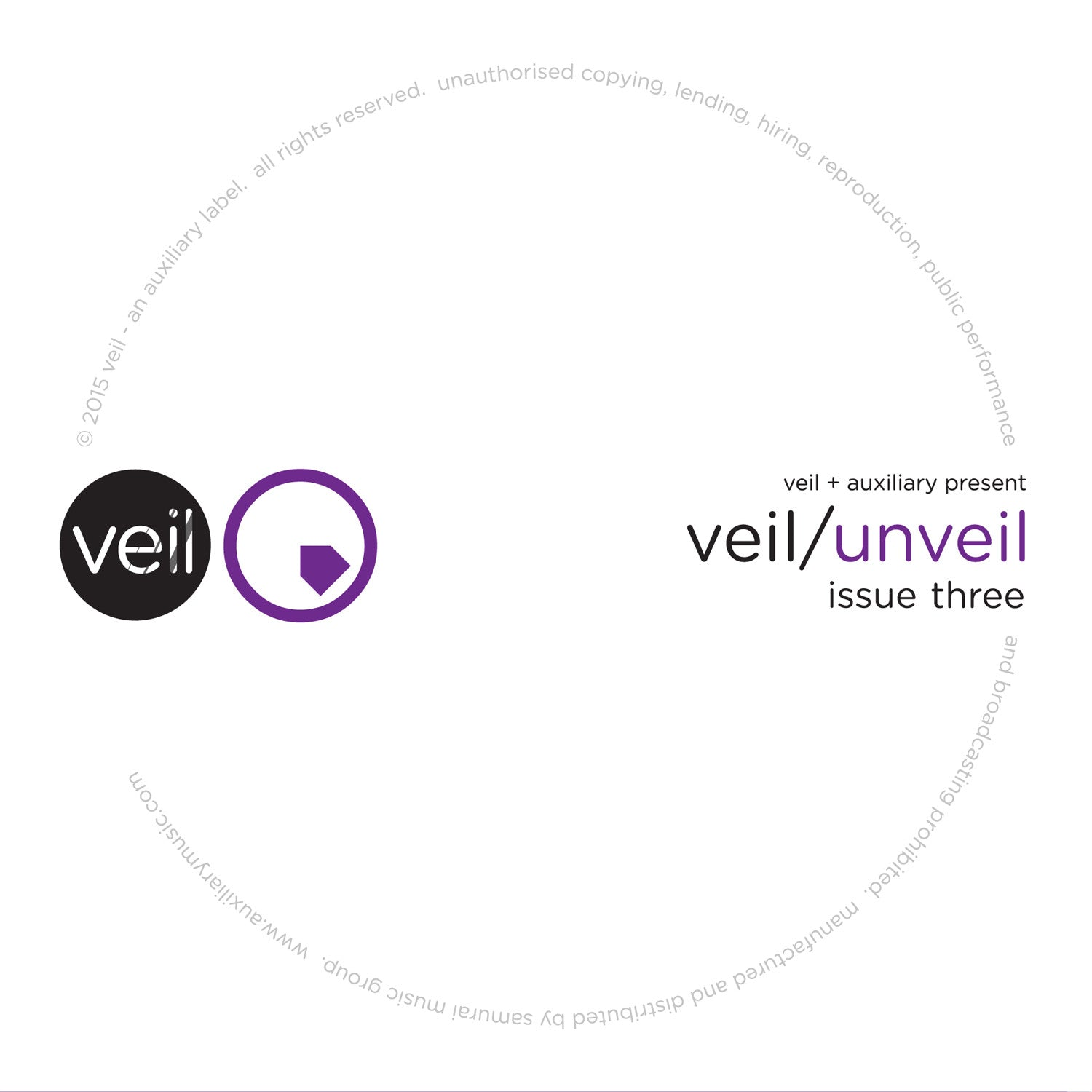Veil/Unveil - Issue 3 , Vinyl - Veil, Unearthed Sounds