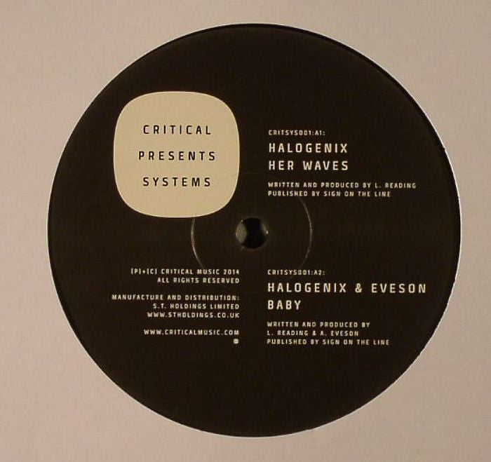 Halogenix - Critical Presents : Systems 001 - Unearthed Sounds