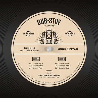 Bukkha ft. Junior Dread - Guns N Fiyah EP - Unearthed Sounds, Vinyl, Record Store, Vinyl Records