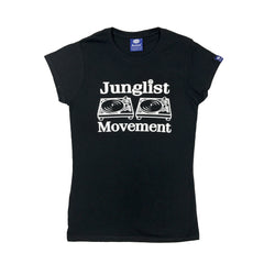 "Womens ""Junglist Movement"" T-Shirt (Original Black)"