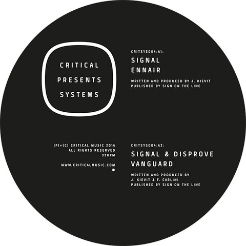 Signal - Critical Presents: Systems 004