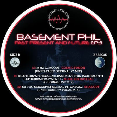 Basement Phil - Past, Present & Future EP 3 - Unearthed Sounds, Vinyl, Record Store, Vinyl Records