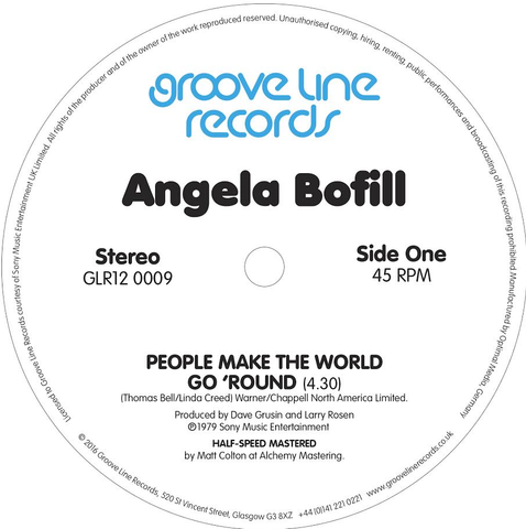 Angela Bofill - People Make The World Go 'Round / Under The Moon And Over The Sky