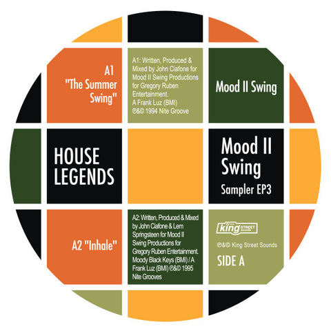 Mood II Swing - House Legends: Mood II Swing Sampler 3