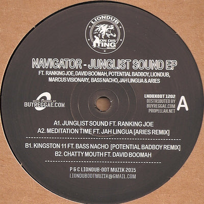 Jah Lingua, Marcus Visionary, Liondub, Ranking Joe, Navigator, Aries - Junglist Sound / Meditation Time - Unearthed Sounds