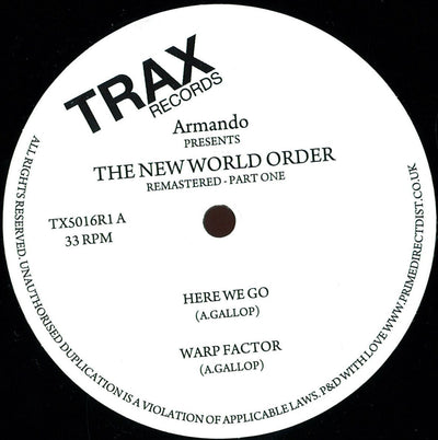 Armando - New World Order - Unearthed Sounds, Vinyl, Record Store, Vinyl Records