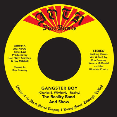 The Reality Band and Show - Gangsterboy - Unearthed Sounds
