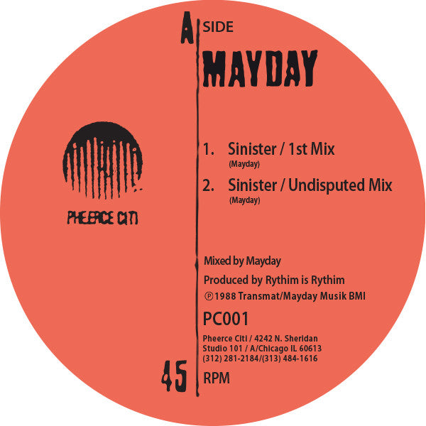 Mayday - Sinister / Pheerce Citi - Unearthed Sounds