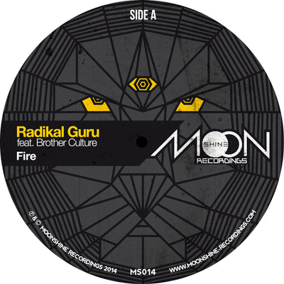 "Radikal Guru ft. Brother Culture - Fire [Black Vinyl 10"" Version] - Unearthed Sounds"