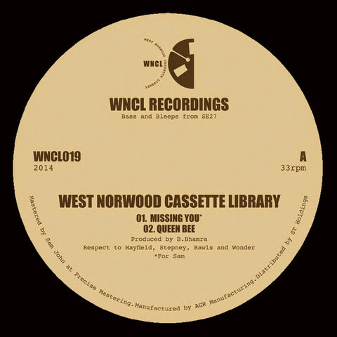 West Norwood Cassette Library ‎– Missing You