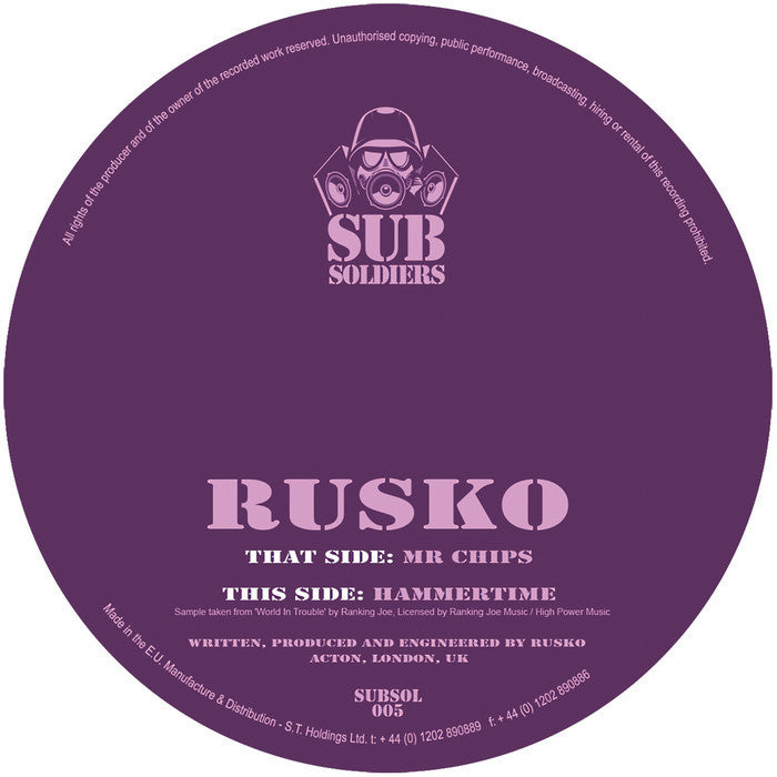 Rusko - Mr Chips - Unearthed Sounds