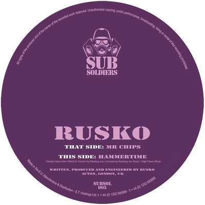 Rusko - Mr Chips - Unearthed Sounds, Vinyl, Record Store, Vinyl Records