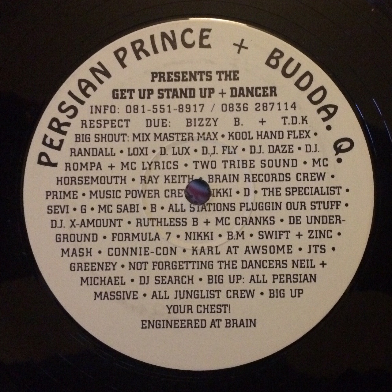 Persian Prince + Budda. Q. ‎– Get Up Stand Up / Dancer - Unearthed Sounds
