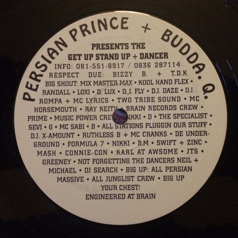 Persian Prince + Budda. Q. ‎– Get Up Stand Up / Dancer