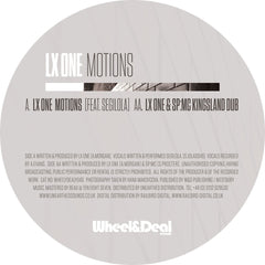 LX One - Motions / LX One & SP:MC - Kingsland Dub , Vinyl - Wheel and Deal Records, Unearthed Sounds - 3