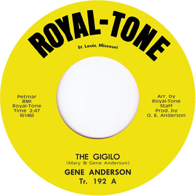 Gene Anderson - The Gigolo / The Loneliest One - Unearthed Sounds, Vinyl, Record Store, Vinyl Records