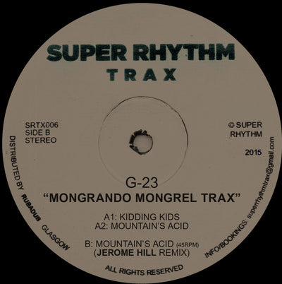 G-23 - Mongrando Mongrel Trax [w/ Jerome Hill Remix] - Unearthed Sounds, Vinyl, Record Store, Vinyl Records