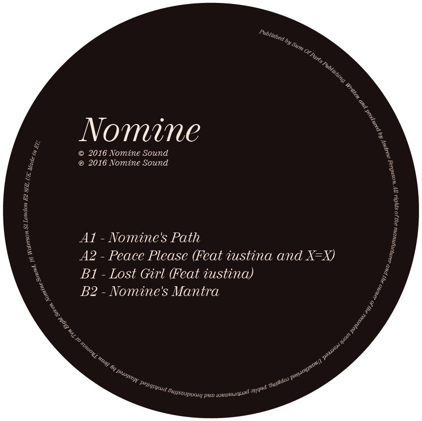 Nomine - Path / Peace / Lost / Mantra , Vinyl - Nomine Sound, Unearthed Sounds - 1