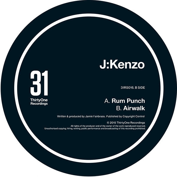 J:Kenzo - Rum Punch / Airwalk - Unearthed Sounds