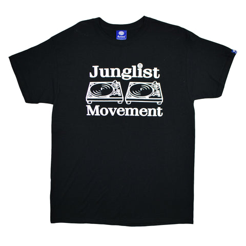 "Mens ""Junglist Movement"" T-Shirt (Original Black)"