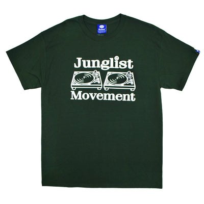 "Mens ""Junglist Movement"" T-Shirt (Forest Green) - Unearthed Sounds"