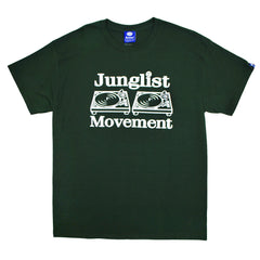 "Mens ""Junglist Movement"" T-Shirt (Forest Green)"