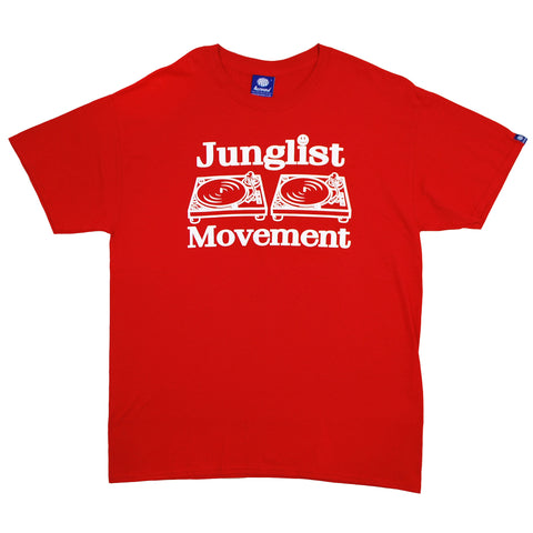 "Mens ""Junglist Movement"" T-Shirt (Red)"
