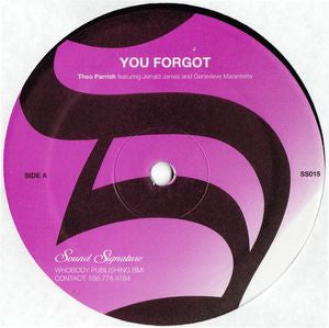 Theo Parrish - You Forgot / Dirt Rhodes - Unearthed Sounds