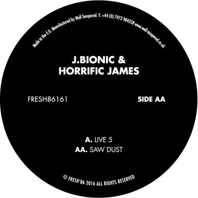 J.Bionic & Horrific James - Live 5 / Saw Dust - Unearthed Sounds