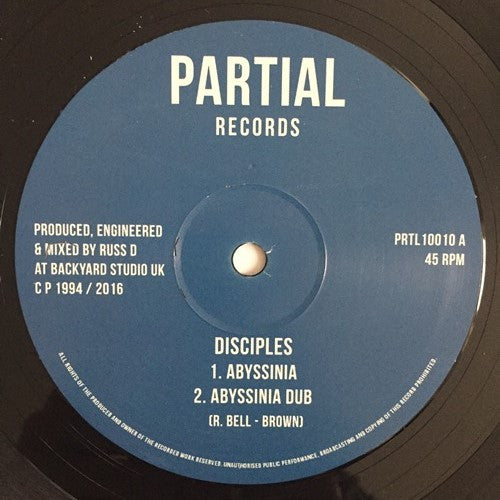 The Disciples - Abyssinia / Mabrak , Vinyl - Partial Records, Unearthed Sounds