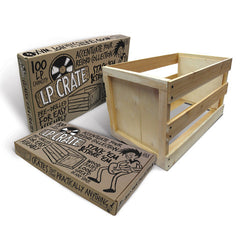 "Crate Farm LP Crate [100 12"" Capacity] Vinyl Storage - Unearthed Sounds"