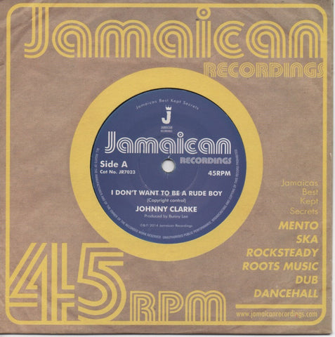 Johnny Clarke - I Don't Want to Be a Rude Boy / Version
