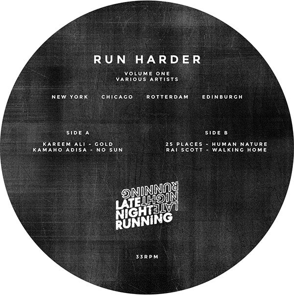 Various Artists - Run Harder Volume One , Vinyl - Late Night Running, Unearthed Sounds